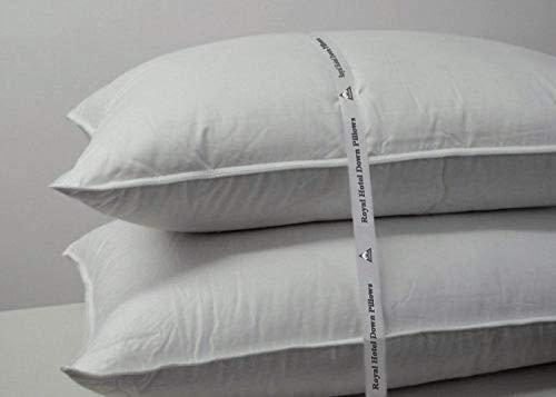 Royal Hotel Abripedic Medium firm Goose Down Pillow - 600 Thread Count, 100% Cotton Shell, Standard/Queen Size, Medium-firm, 1 Single Pillow