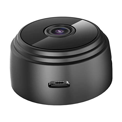 Blingdots WiFi Camera, HD 1080P Mini Camera Wireless WiFi Security Cam Night Vision Motion Detects 16GB TF Card Loop Recording, Motion Detection, Infrared Night Vision