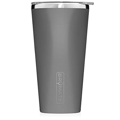 Brumate-Imperial-Pint-20oz-Shatterproof-Double-Wall-Vacuum-Insulated-Stainless-Steel-Travel-Camping-Mug-for-Beer-Cocktails-Coffee-Tea-with-Splash-Proof-Lid-for-Men-Women-Matte-Grey