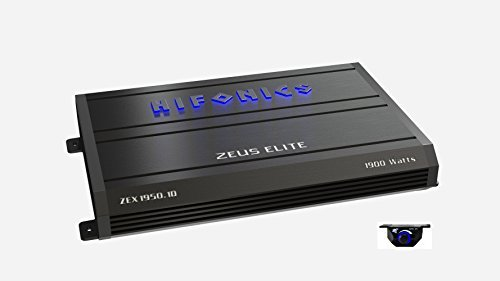 Hifonics Zeuz ELITE ZEX1950.1D Car Audio 1900 Watts RMS Mono Block Amp with Blue illuminated Logo 1 Ohm Stable Class D Subwoofer Black Amplifier with Remote Bass Boost Control Knob Included