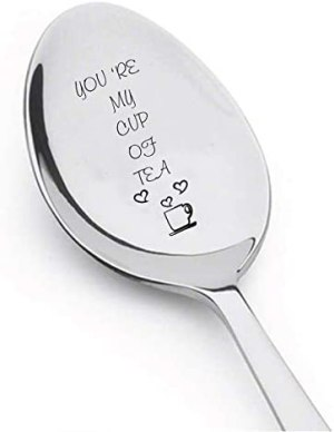 You're My Cup of Tea Spoon Engraved spoon for hot tea House warming gifts unique gift ideas Flatware for Dining & Entertaining