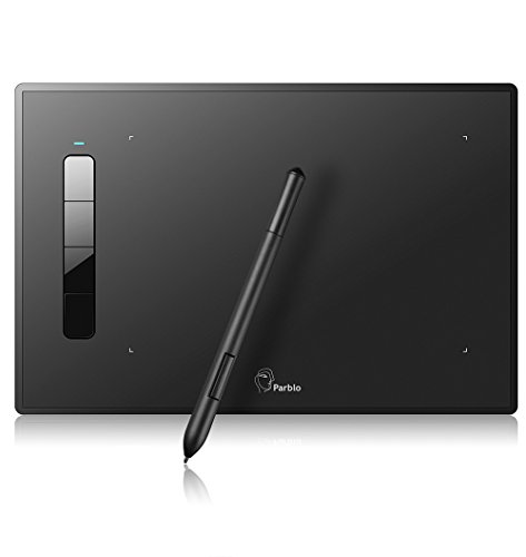 Parblo Island A609 Digital Drawing Tablet with 2048 Levels Pressure Battery-Free Pen for Computers, Graphic Tablet for Digital Art Sketch, Paint, Design