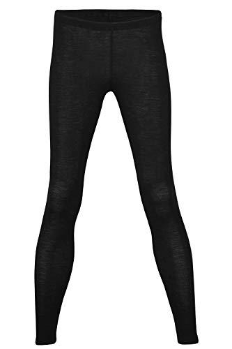 EcoAble Apparel Women's Thermal Leggings Pants Base Layer, Organic Merino Wool Silk Blend (42-44/Medium, Black)