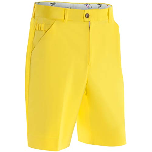 Royal & Awesome YOLO Yellow Bright Mens Golf Shorts - 36' Waist - 91 cm