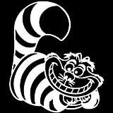 Alice In Wonderland Cheshire Cat WHITE Vinyl Car/Laptop/Window/Wall Decal