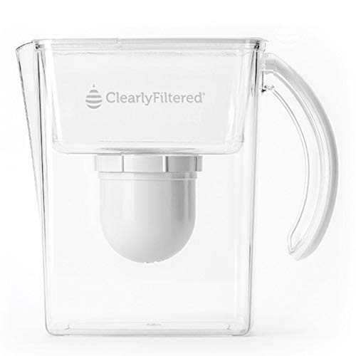 Clearly Filtered Water Pitcher - Guaranteed to remove chemicals such as Fluoride, Lead, PFOA/PFAS, Glyphosate & even Pharmaceutical drugs