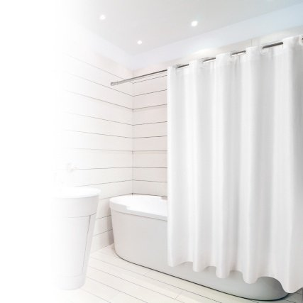 White Hookless Shower Curtain Uk | Boatylicious.org