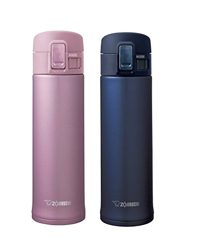 Zojirushi Stainless Steel Mugs, Smoky Blue & Lavender Pink