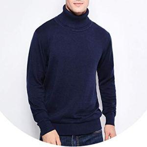 Winter Fashion Men's Sweaters Warm Slim Fit Turtleneck Men Pullover