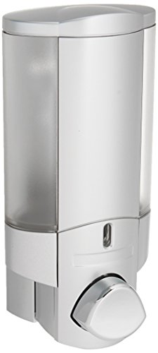 Better Living Products 76130 AVIVA Single Bottle Soap and Shower Dispenser, Satin Silver