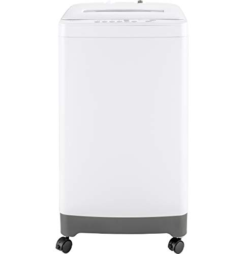 GE Haier HLPW028BXW Portable Washer with 2.1 cu. ft. Capacity 6 Washing Cycle Adjustable Leveling Legs Lift and Carry Handles on Ca