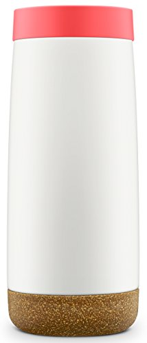Ello Cole Vacuum Insulated Stainless Steel Water Bottle with Slider Lid | 16 oz | Coral