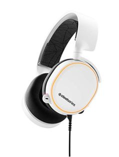 (Renewed) SteelSeries Arctis 5 (2019 Edition) RGB Illuminated Gaming Headset with DTS Headphone:X v2.0 Surround for PC and PlayStation 4 – White