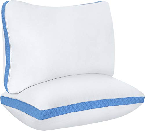 Utopia Bedding Gusseted Pillow (2-Pack) Premium Quality Bed Pillows - Side Back Sleepers - Blue Gusset - Queen - 18 x 26… 1