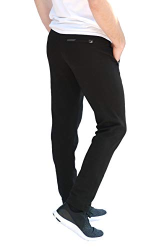 SCR SPORTSWEAR Men's Soccer Track Training Pants Athletic Sweatpants with Zipper Pockets Black Heather Grey Short Long Inseam 15 Fashion Online Shop gifts for her gifts for him womens full figure