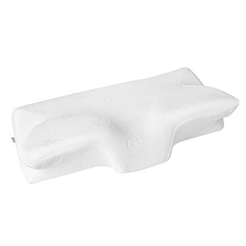 MARNUR 23.5×14.5×5.5 in Cervical Pillow Contour Memory Foam Orthopedic Pillow for Neck Pain Sleeping for Side Sleeper Back Sleeper Stomach Sleeper+White Pillowcase(1 PCS)