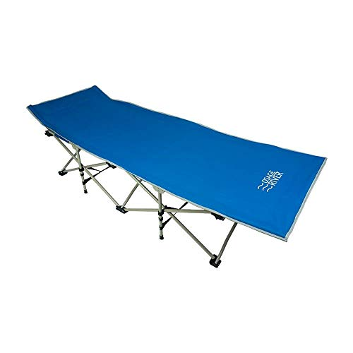 Osage River Folding Camp Cot Folding Camp Cot with Carry Bag. Rated up to 300 Lbs. Yet Weighs only 13 Lbs. for Camping, Traveling, and Home Lounging (Folding Camp Cot - Grey)