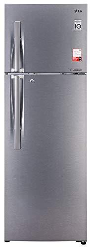 319G7U3LkWL - LG 335 L 3 Star Inverter Frost-Free Double Door Refrigerator (GL-T372JDS3, Dazzle Steel, Convertible)
