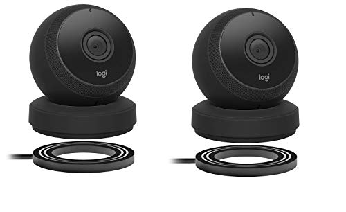 Logitech-Circle-Wireless-HD-Video-Battery-Powered-Security-Camera-with-2-Way-Talk-Compatible-with-Alexa-2-Pack-Black