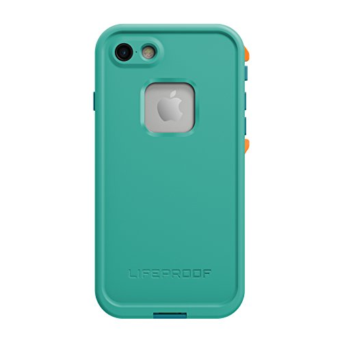 Lifeproof FRĒ SERIES Waterproof Case for iPhone 7 (ONLY) - Retail Packaging - SUNSET BAY (LIGHT TEAL/MAUI BLUE/MANGO TANGO)