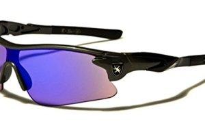 Half Frame Kids Teen Age 8-16 Performance Baseball Cycling Running Sport Sunglasses Color Mirrored Lens (Gray/Black Tips)