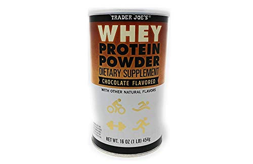 Trader Joe's - Whey Protein Powder Dietary Supplement Chocolate Flavored With Other Natural Flavors 16 OZ (1 LB) 454 g
