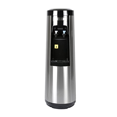 Magic Mountain's POU Water Pyramid Series, Stainless Steel Room-Temp and Cold Bottleless Water Dispenser