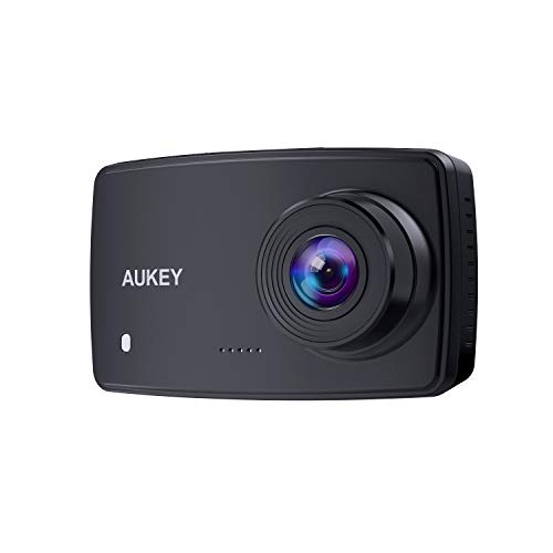 AUKEY Dash Cam, 1080p Dash Camera for Cars with 6-Lane Lens, 2.7 Inch LCD, Motion Sensor, Loop Recording and Night Vision