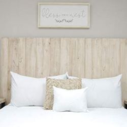 Antique White Headboard Queen Size Weathered, Hanger Style, Handcrafted. Mounts on Wall. Easy Installation