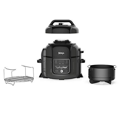 Ninja OP301 Pressure Cooker, Steamer & Air Fryer w/TenderCrisp Technology Pressure & Crisping Lid, 6.5 quart, Black/Gray