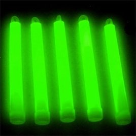 6″ Premium Lumistick Glow Light Sticks Green (Tube of 25)