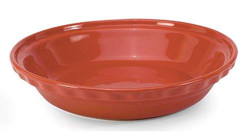 Chantal 93-PDD24 CB Ceramic Deep Dish Pie, 9.5-Inch, Cinnabar