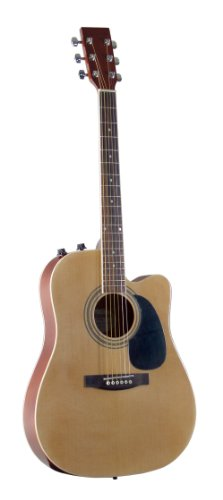 Johnson JG-650-TN Thinbody Acoustic Guitar with Pickup, Natural
