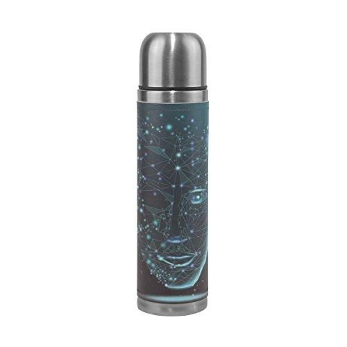 saobao la cara de ciencia y tecnología botella de agua aspiradora de doble pared de acero...
