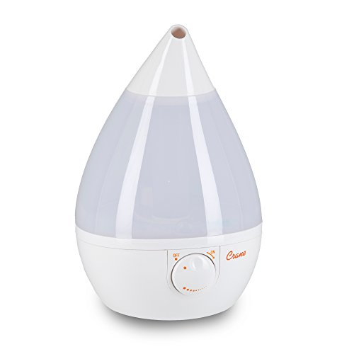 Crane Humidifier, Ultrasonic Cool Mist Humidifiers, Filter-Free, 1 Gallon, for Home Bedroom Baby Nursery and Office, White