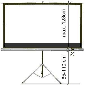 portable 92 16:9 projector screen telescopic tripod