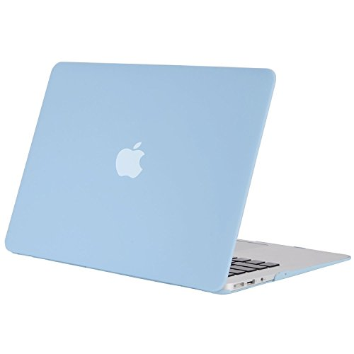 MOSISO MacBook Air 13 Case (Models: A1369 & A1466, Older Version 2010-2017 Release), Plastic Hard Shell Case Cover Only Compatible MacBook Air 13 Inch, Airy Blue
