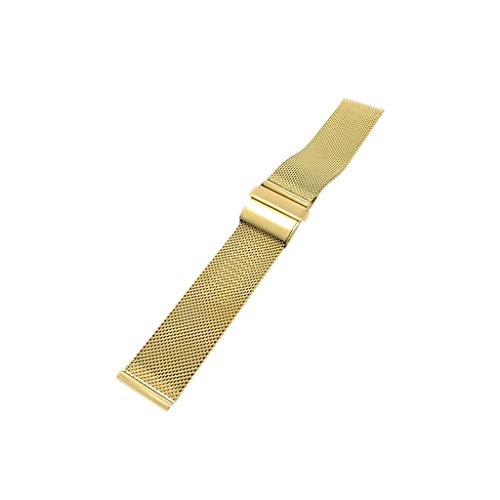 Kecar Stainless Steel Watch Strap, Double Push Button Watch Band Buckle Milanese Metal Wrist Band Strap Band 22 mm