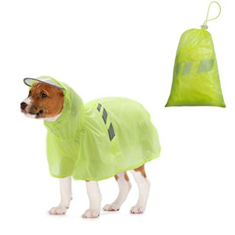 BINGPET-Dog-Raincoat-for-Small-to-Large-Dogs-Waterproof-Pet-Rain-Jacket-with-Hood--ReflectiveLightweight-Rain-Poncho-Yellow