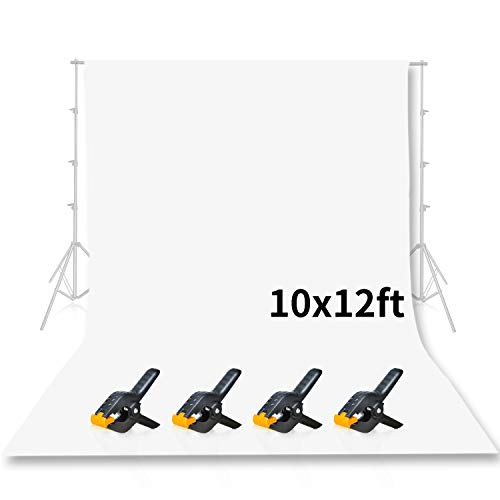 Emart-Photo-Studio-10-x-12ft-White-Backdrop-Screen-Seamless-Chromakey-Backdrop-Muslin-Background-Screen-for-Photography