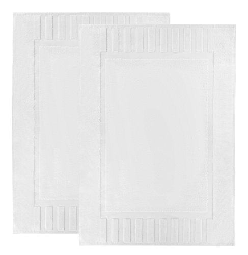 Luxury White Cotton Bath-Mat
