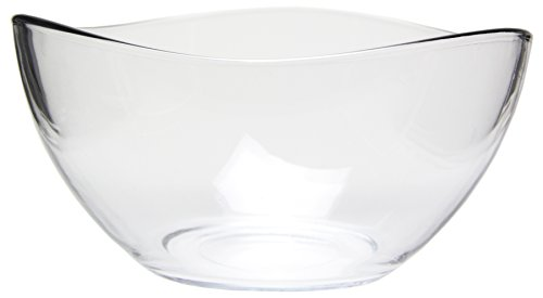 Large Clear Glass Wavy Serving/Mixing Bowl, 63.5 oz