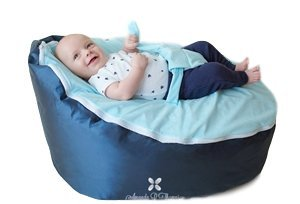 BayB Brand Baby Bean Bag, Filled, Blue