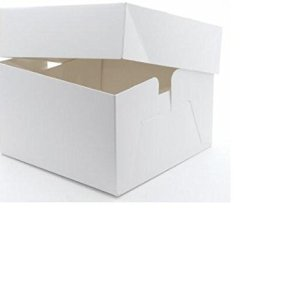 Plain cake box 10″ x 10″ x 6″ HD – 5 Pack 31C1dmmeZdL