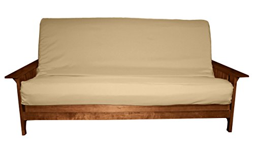 Better Fit Machine Washable Upholstery Grade Futon Cover , Full 8-inch Loft-size, Twill Khaki