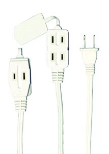 Axis 3-Outlet White Indoor Extension Cord