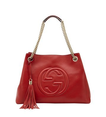 31D8yYP9VyL Brand new authentic Gucci red leather. Light gold hardware. Natural cotton linen lining.