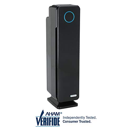 """GermGuardian AC5350B 28"""" 4-in-1 Large Room Air Purifier for Home, True HEPA Filter, UVC Sanitizer, Air Cleaner Traps Allergens, Smoke, Odors, Mold, Dust, Germs, Pet Dander, 5 Yr Warranty Germ Guardian"""