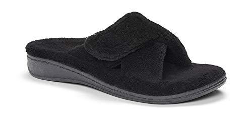 Vionic Women's Relax Slipper, Black Terry, 9 M