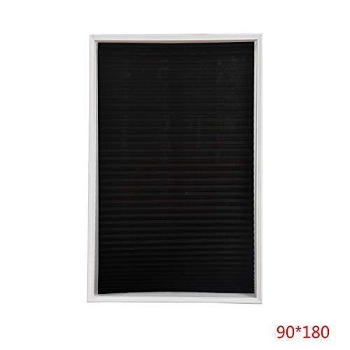 Topker Self-Adhesive Pleated Blinds Half Blackout Windows Curtains Office Bathroom Kitchen Balcony Shades